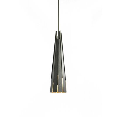Finn 1-Light Mini Pendant Finish: Burnished Steel