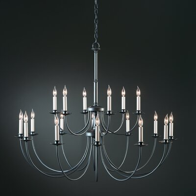 18-Light Candle-Style Chandelier Finish: Brushed Steel