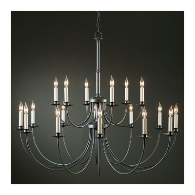 18-Light Candle-Style Chandelier Finish: Natural lron