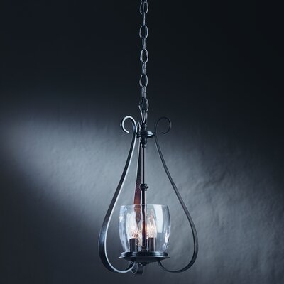 3-Light Mini Chandelier Finish: Black