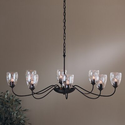 8-Light Shaded Chandelier Finish: Brushed Steel