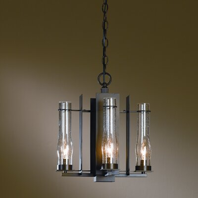 New Town 4-Light Candle-Style Chandelier Finish: Black