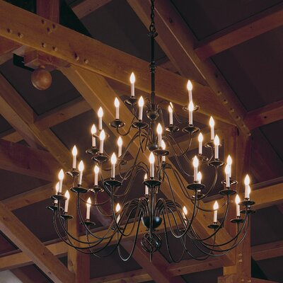 36-Light Candle-Style Chandelier Finish: Bronze