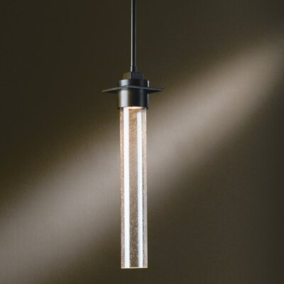 Airis Large 1-Light Pendant Glass: Seeded Clear, Finish: Translucent Dark Smoke