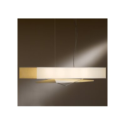 Facet 4-Light Kitchen Island Pendant Finish: Translucent Burnished Steel, Shade: Flax