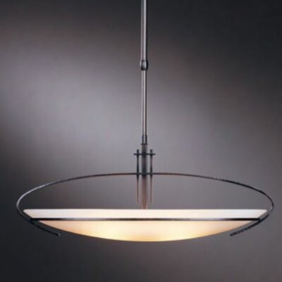 Mackintosh Oval 2-Light Inverted Pendant Finish: Translucent Burnished Steel, Shade Size / Stem Length: Small / 29 to 37