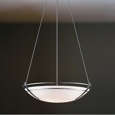 Presidio 6-Light Inverted Pendant Finish: Brushed Steel, Shade Color: Sand