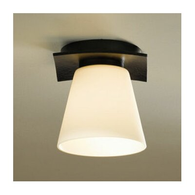 Wren 1 Light Semi Flush Mount Finish: Mahogany, Shade Color: Stone, Bulb Type: (1) 60W G-9 halogen bulb