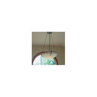 Presidio Extra Large 3-Light Semi Flush Mount Finish: Natural lron, Shade Color: Opal