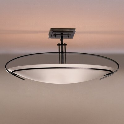 Mackintosh Oval 2-Light Semi Flush Mount Finish: Brushed Steel