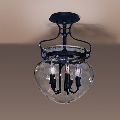 Acharn 5-Light Semi Flush Mount Finish: Black
