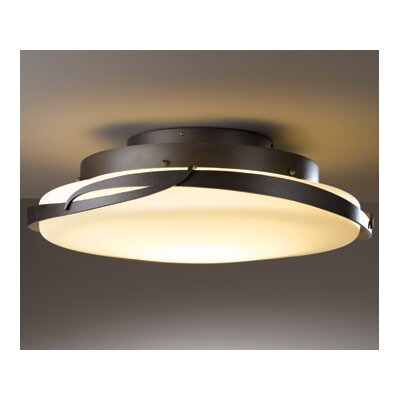 Flora 1-Light Semi-Flush Mount Finish: Mahogany
