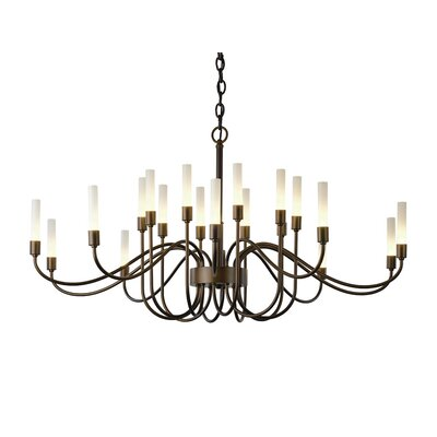 Lisse 20-Light Shaded Chandelier Finish: Bronze