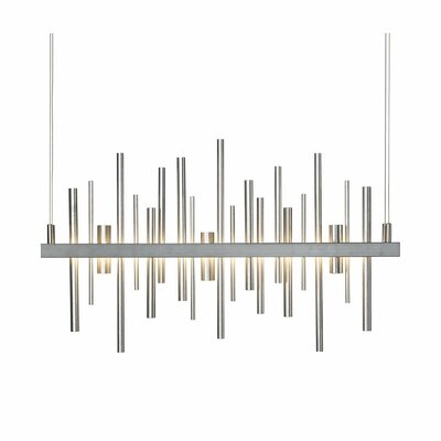 Cityscape Linear Pendant Finish: Burnished Steel