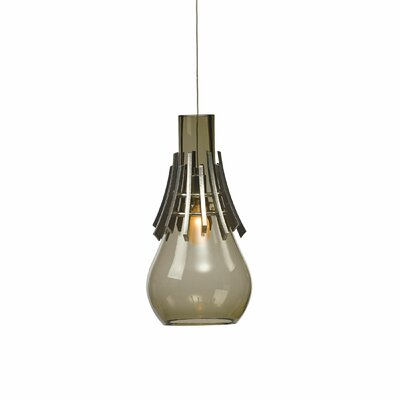 Colette 1-Light Mini Pendant Shade Color: Cool Gray