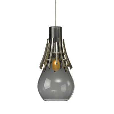 Colette 1-Light Mini Pendant Shade Color: Warm Gray