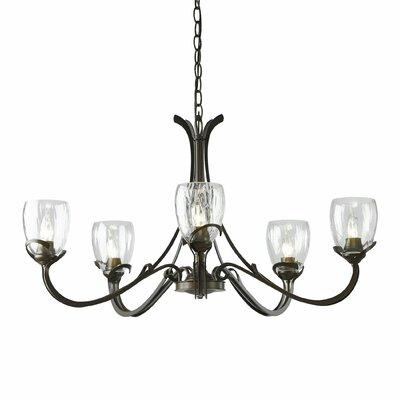 Aubrey 5-Light Candle-Style Chandelier Finish: Burnished Steel