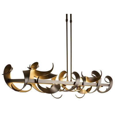 Folio LED Geometric Pendant Finish: Burnished Steel, Size: Large