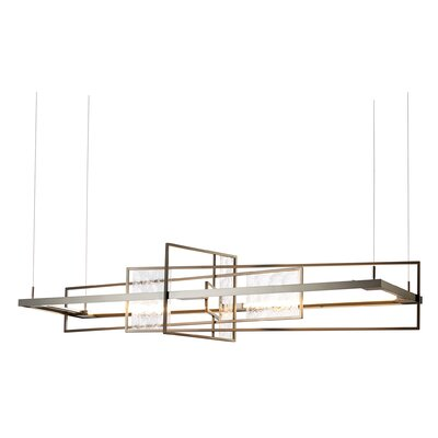 4 Seasons Summer LED Kitchen Island Pendant Finish: Bronze/Aqualite