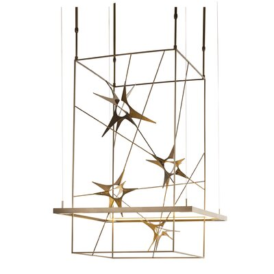 Kairos LED Geometric Pendant Size: Large, Finish: Natural Iron