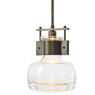 Cuff 1-Light Mini Pendant Finish: Dark Smoke, Size: Medium