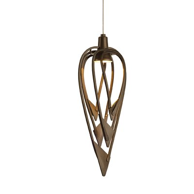 Amulet 1-Light Geometric Pendant Finish: Black