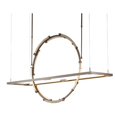 Theta LED Pendant Finish: Burnished Steel/Vintage Platinum