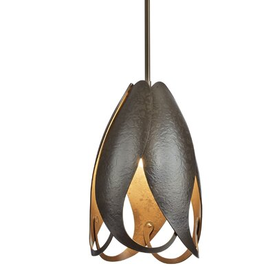Pental 1-Light Mini Pendant Finish: Burnished Steel, Size: Medium