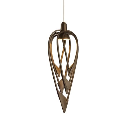 Amulet 1-Light Mini Pendant Finish: Black