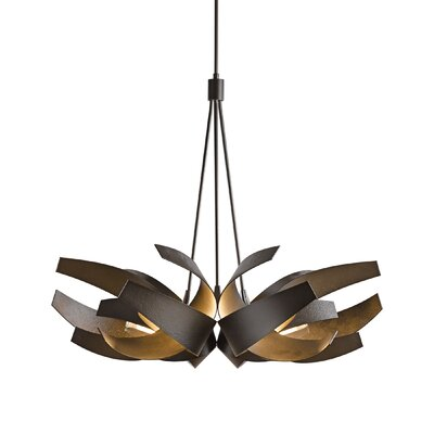 Corona Geometric Pendant Finish: Dark Smoke, Stem Length: Long