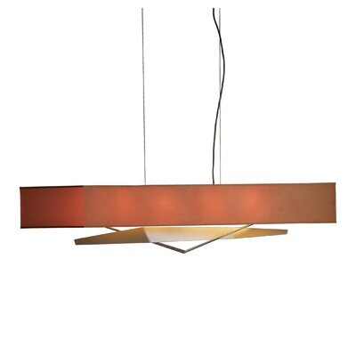 Facet 4-Light Kitchen Island Pendant Finish: Translucent Burnished Steel, Shade: Terra Micro-Suede