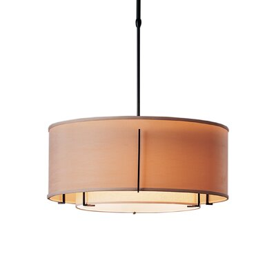 Exos Double Shade 3-Light Drum Pendant