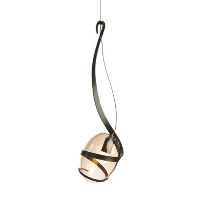 Pinot 1-Light LED Mini Pendant Finish: Dark Smoke, Shade Color: Rose