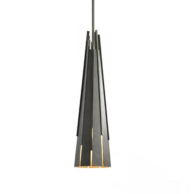 Finn Pendant Finish: Burnished Steel, Stem Length: Short