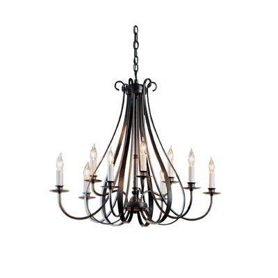 9-Light Candle-Style Chandelier Finish: Black