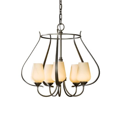 Flora 5-Light Foyer Pendant Finish: Dark Smoke, Glass Type: Stone Glass