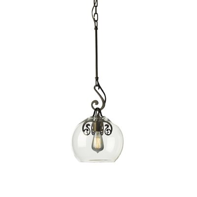 Lure 1-Light Mini Pendant Shade Color: Clear, Finish: Dark Smoke