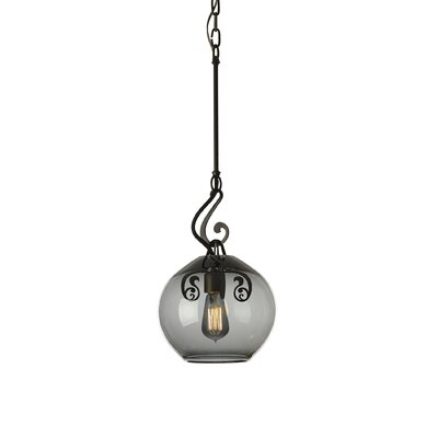Lure 1-Light Mini Pendant Finish: Dark Smoke, Shade Color: Cool Gray
