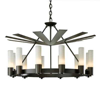 Piccadilly 12-Light Foyer Pendant Finish: Burnished Steel