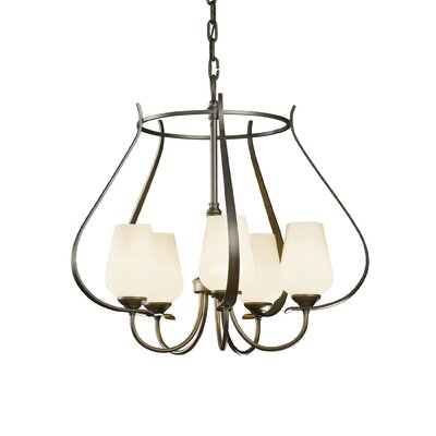 Flora 5-Light Foyer Pendant Finish: Dark Smoke, Glass Type: Pearl Glass