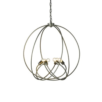 Orb 6-Light Globe Pendant Finish: Burnished Steel