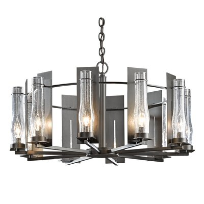 New Town 10-Light Candle-Style Chandelier Finish: Burnished Steel