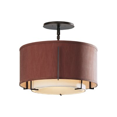 Exos Double Shade 1-Light Semi-Flush Mount