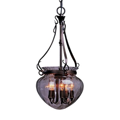 5-Light Foyer Pendant Finish: Dark Smoke