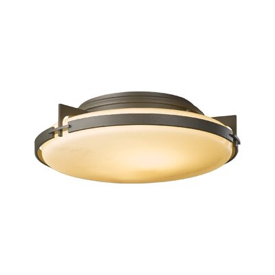 2-Light Semi Flush Mount Finish: Translucent Dark Smoke, Glass: Stone