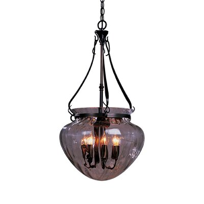 Acharn 7-Light Foyer Pendant Finish: Black