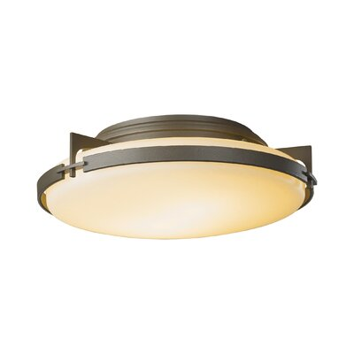 2-Light Semi Flush Mount Finish: Translucent Dark Smoke, Glass: Pearl