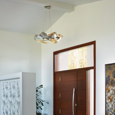 Flux LED Geometric Pendant Finish: Vintage Platinum