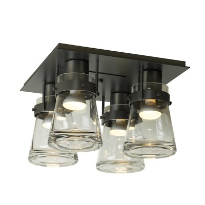Erlenmeyer 4-Light Semi Flush Mount Finish: Black