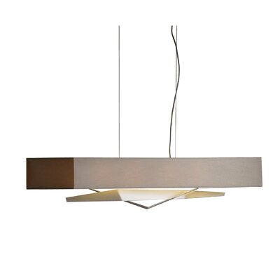 Facet 4-Light Kitchen Island Pendant Finish: Translucent Burnished Steel, Shade: Eclipse Micro-Suede